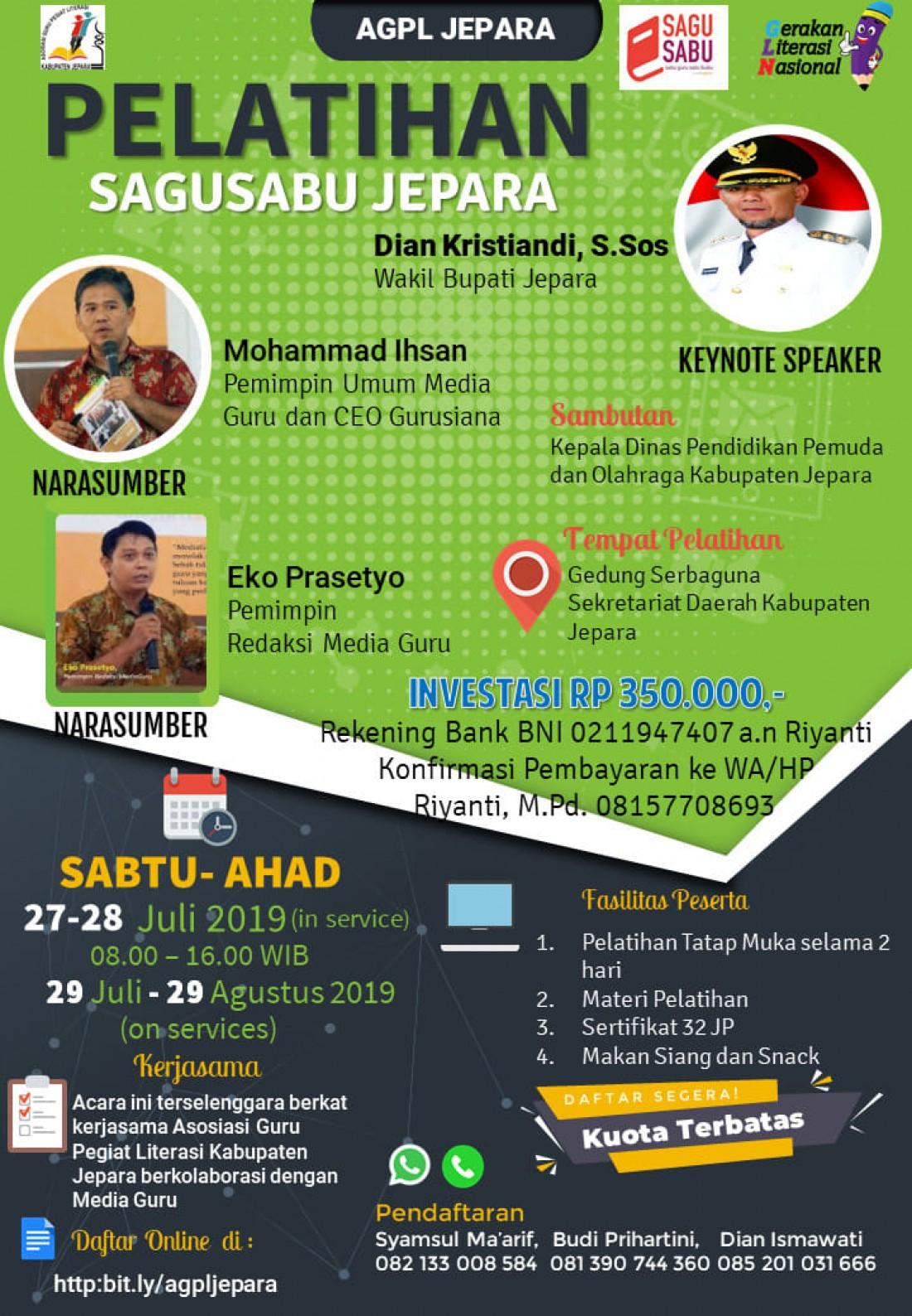 Pelatihan Sagusabu Jepara (27-28 Juli 2019)