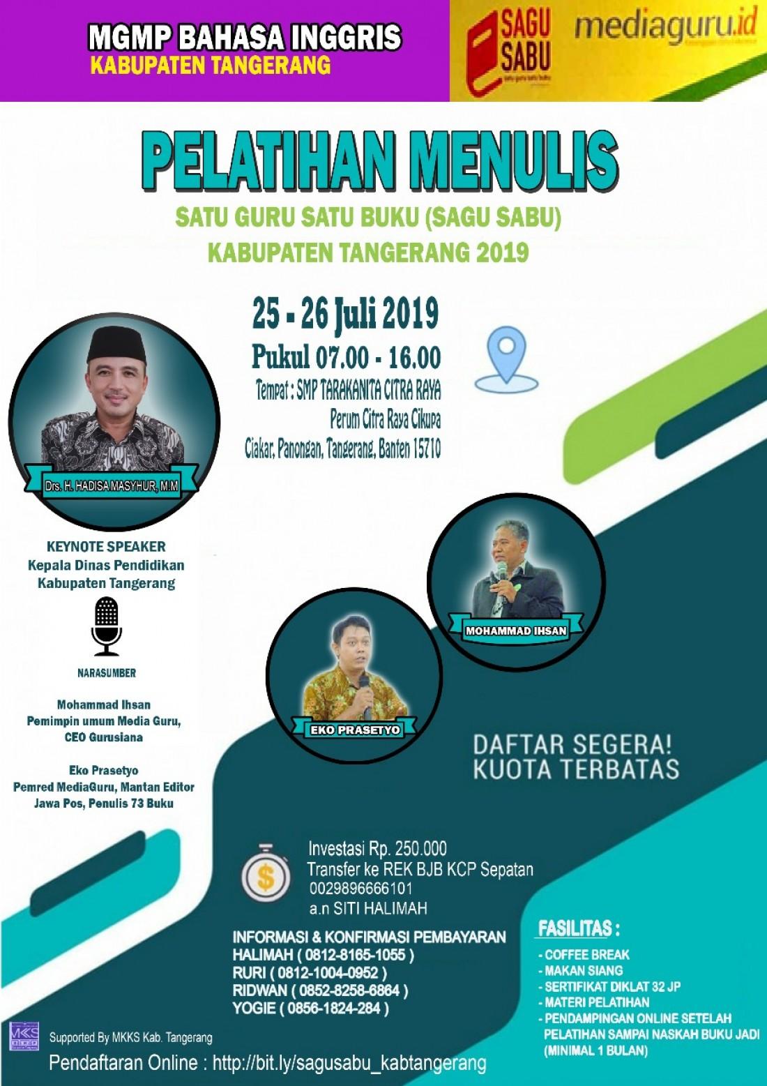 Pelatihan Sagusabu Kab Tangerang (25 - 26 Juli 2019)