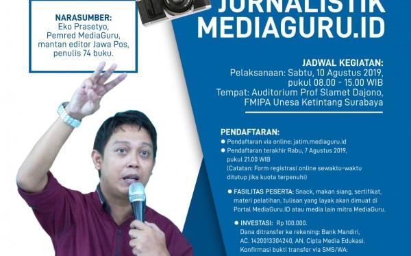 Pelatihan Jurnalistik MediaGuru.ID (Surabaya, 10 Agustus 2019)