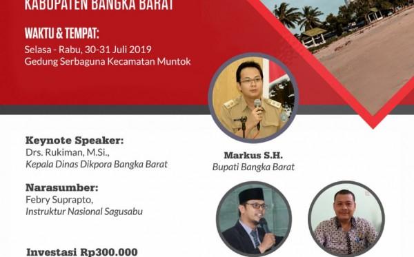Pelatihan Sagusabu dan Sasisabu Bangka Barat (30 - 31 Juli 2019)