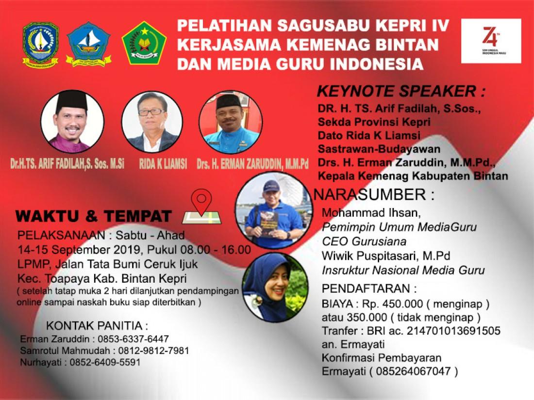 Pelatihan Sagusabu Kepri IV (Bintan, 14 - 15 September 2019)
