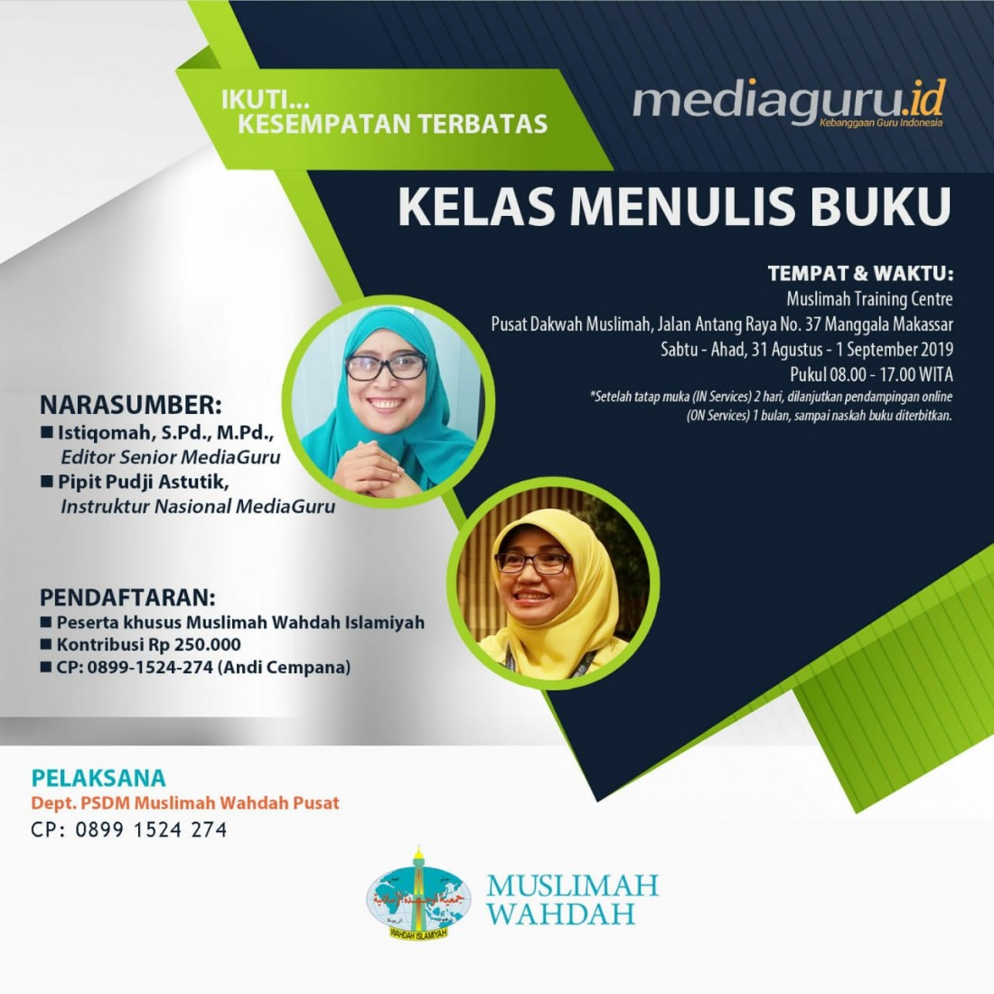 Kelas Menulis Buku Makassar (31 Agustus - 1 September 2019)