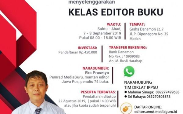Kelas Editor Buku MediaGuru IPPSU (Medan, 7 - 8 September 2019)
