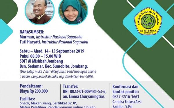 Pelatihan Menulis Sagusabu Jombang Jatim (14 - 15 September 2019)