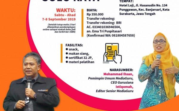 Pelatihan Sagusabu Solo Raya (7 - 8 September 2019)