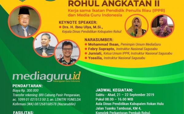 Pelatihan Sagusabu Rohul Riau Angkatan II (21 - 22 September 2019)