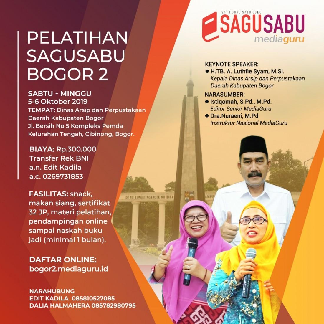 Pelatihan Menulis Sagusabu Bogor II (5 - 6 Oktober 2019)