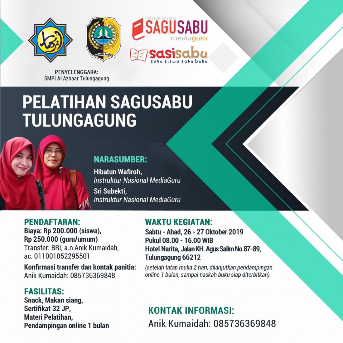 Pelatihan Menulis Buku MediaGuru Tulungagung (26 - 27 Oktober 2019)