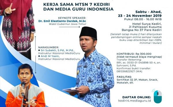 Pelatihan Menulis Sagusabu Kediri IV (23 - 24 November)
