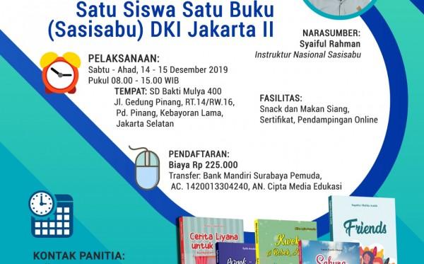 Pelatihan Menulis Satu Siswa Satu Buku (Sasisabu) DKI Jakarta II (14 - 15 Desember 2019)