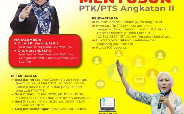 Pelatihan Menyusun PTK/PTS Angkatan II (9-16 Mei 2020)