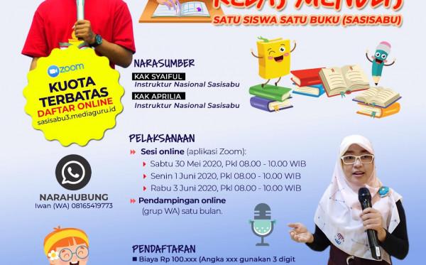 Kelas Menulis Online Satu Siswa Satu Buku (Sasisabu) III (30 Mei - 3 Juni 2020)