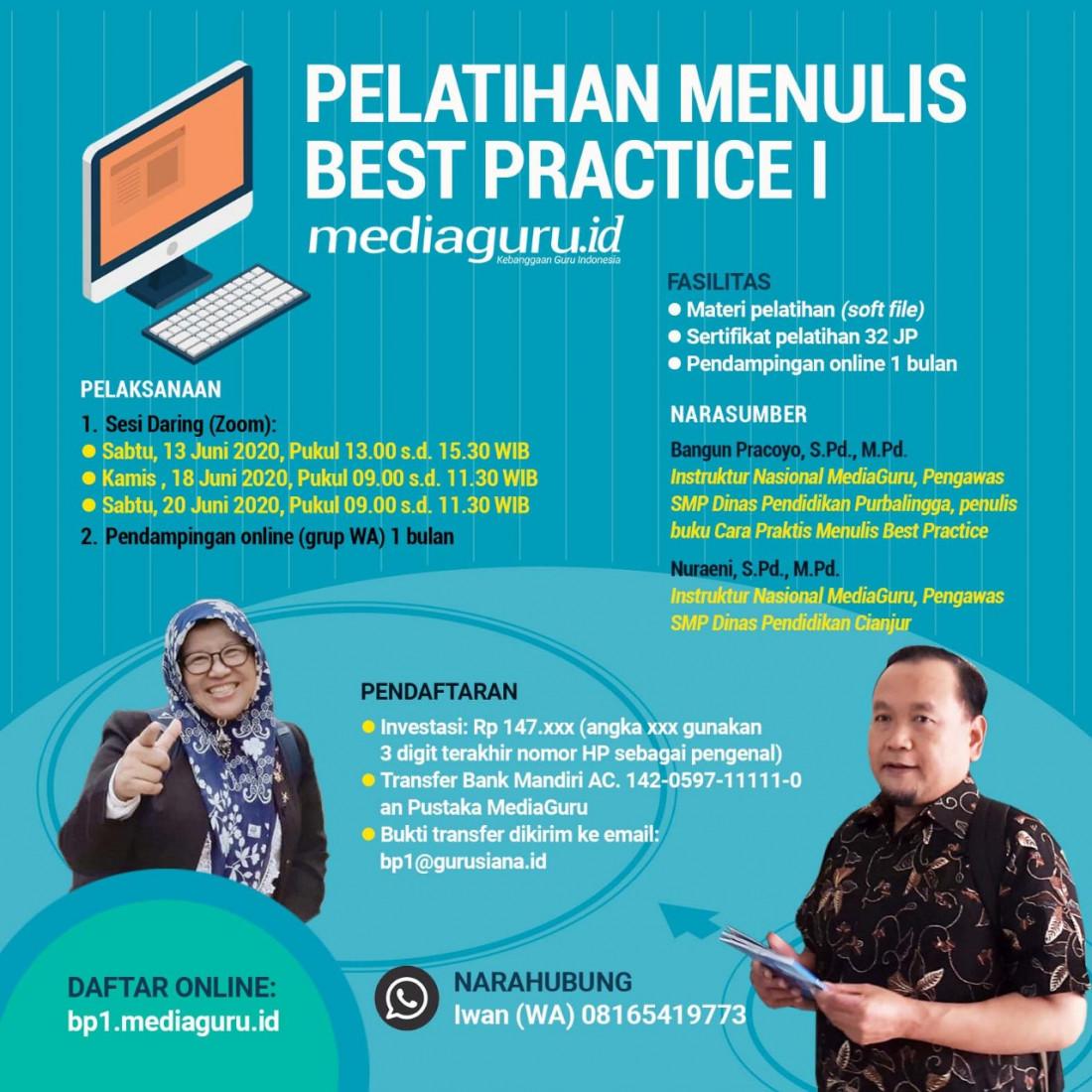 Pelatihan Menulis Best Practice (13 - 20 Juni 2020)