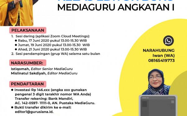 Kelas Editor Buku MediaGuru I (17 - 21 Juni 2020)