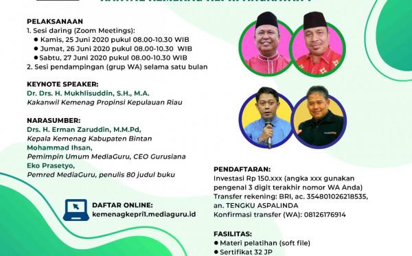 Kelas Menulis Online Sagusabu Kanwil Kemenag Kepri I (25 - 27 Juni 2020)