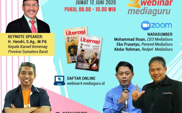 Webinar MediaGuru IV Launching Majalah Literasi Indonesia (12 Juni 2020)