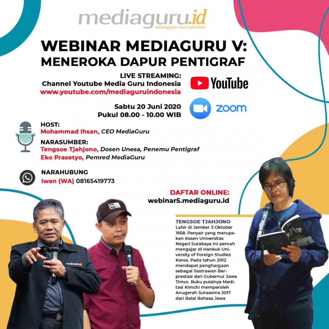 Webinar MediaGuru V - Meneroka Dapur Pentigraf (20 Juni 2020)
