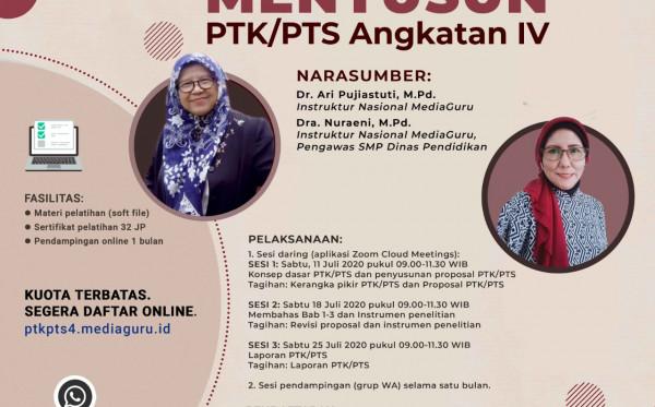 Pelatihan Daring Menyusun PTK/PTS Angkatan IV (11-25 Juli 2020)
