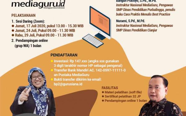 Pelatihan Menulis Best Practice II (17 - 29 Juli 2020)