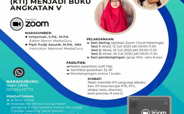 Pelatihan Daring Mengubah KTI Menjadi Buku V (12 - 26 Juli 2020)