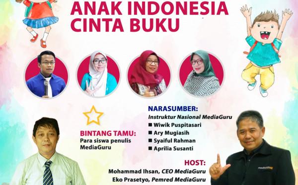 Webinar MediaGuru VII Anak Indonesia Cinta Buku