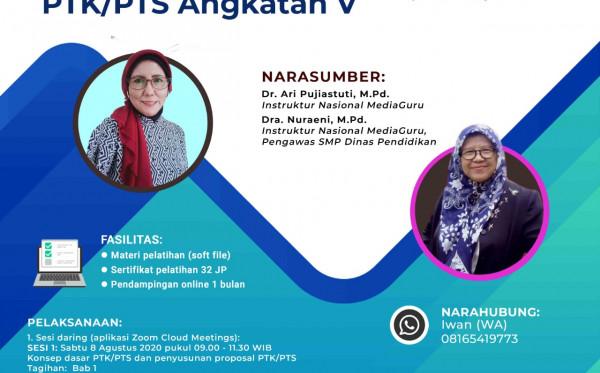 Pelatihan Daring Menyusun PTK/PTS V (8 - 22 Agustus 2020)
