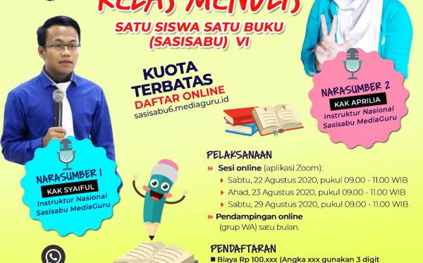 Kelas Menulis Satu Siswa Satu Buku (Sasisabu) VI (22 - 29 Agustus 2020)