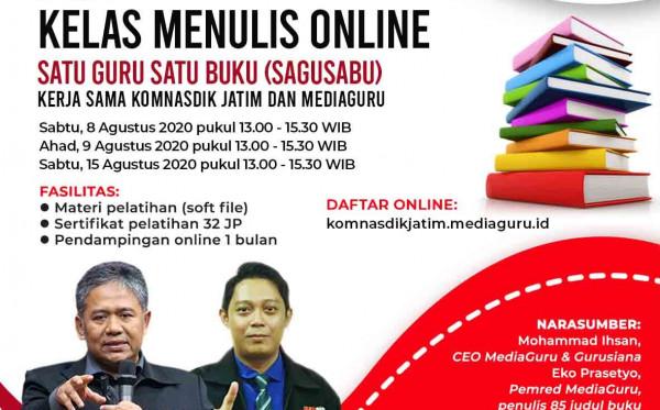 Kelas Menulis Online Satu Guru Satu Buku (Sagusabu) Komnas Pendidikan Jatim (8 - 15 Agustus 2020)