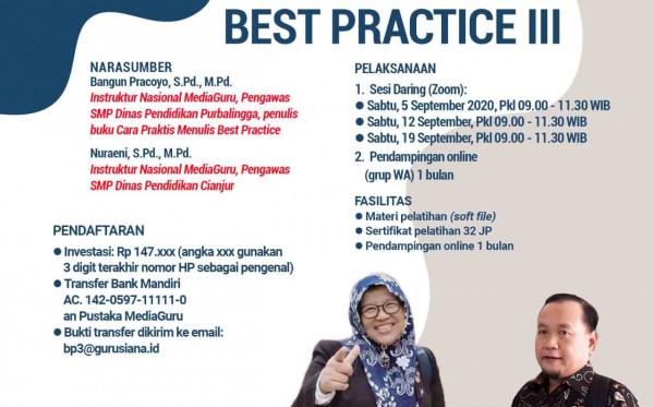 PELATIHAN MENULIS BEST PRACTICE III (5 - 19 SEPTEMBER 2020)