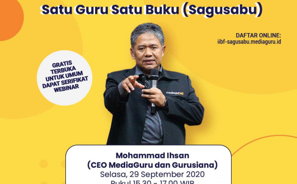 WEBINAR SATU GURU SATU GURU (SAGUSABU) DI IIBF 2020 (29 SEPTEMBER 2020)