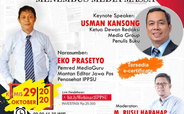 WEBINAR TIPS ARTIKEL MENEMBUS MEDIA MASSA (29 OKTOBER 2020)