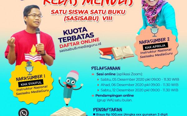KELAS SATU SISWA SATU BUKU (SASISABU) VIII (5 - 12 DESEMBER 2020)
