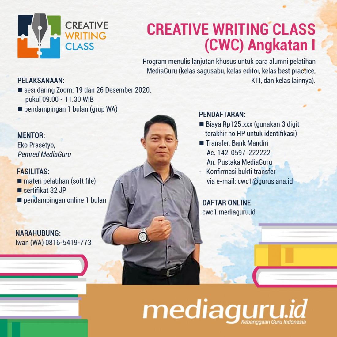 CREATIVE WRITING CLASS (CWC) I (19 & 26 DESEMBER 2020