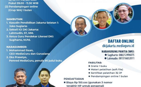DIKLAT SATU GURU SATU BUKU (SAGUSABU) DKI JAKARTA (12 - 14 FEBRUARI 2021)