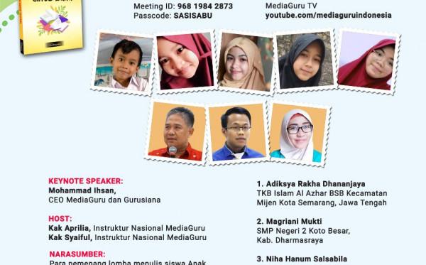 Webinar XXX MediaGuru: ANAK INDONESIA CINTA BUKU (14 Maret 2021)