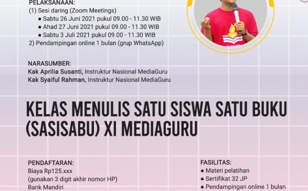 SATU SISWA SATU BUKU (SASISABU) XI MEDIAGURU (26 JUNI - 3 JULI 2021)