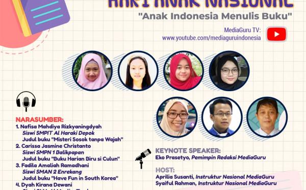 Webinar Anak Indonesia Menulis Buku (25 Juli 2021)