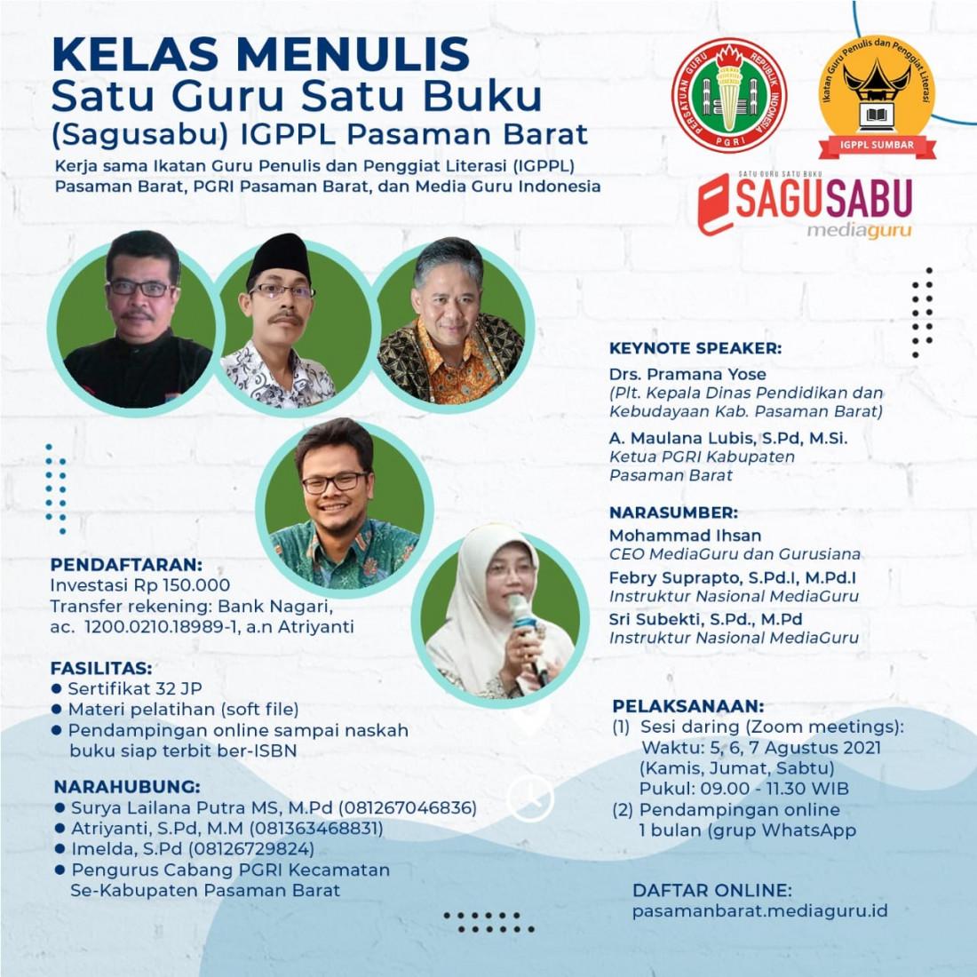 SAGUSABU IGPPL - PGRI PASAMAN BARAT (5-7 AGUSTUS 2021)
