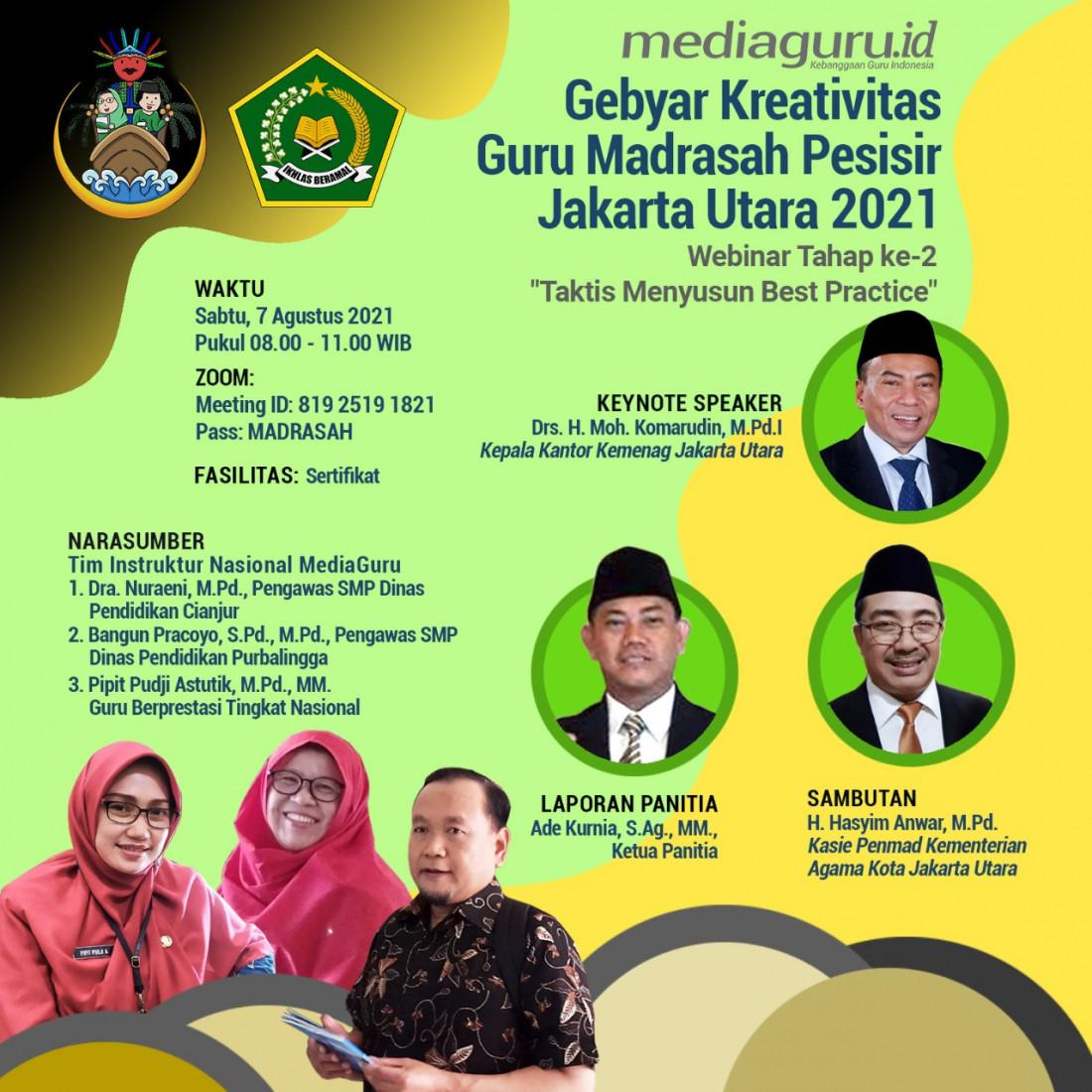 Taktis Menyusun Best Practice tahap ke-2 (Webinar XXXV MediaGuru dan Kemenag Jakarta Utara) - 7 Agustus 2021