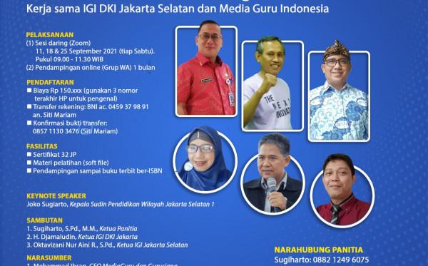 Kelas Menulis Online Sagusabu IGI Jakarta Selatan (11 - 25 September 2021)