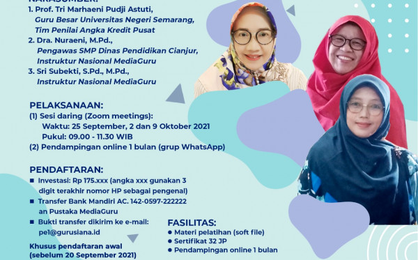 Pelatihan Penelitian Eksperiman untuk Publikasi Ilmiah Guru (25 September - 9 Oktober 2021)