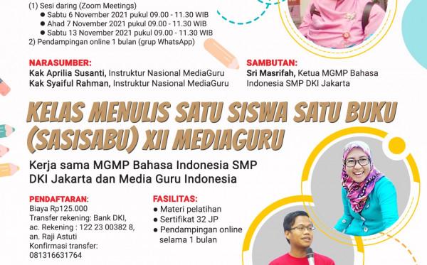 SATU SISWA SATU BUKU (SASISABU) MGMP BAHASA INDONESIA SMP DKI JAKARTA (6-13 NOVEMBER 2021)